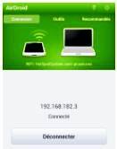 liaison sans fil  téléphone Androide  ordinateur