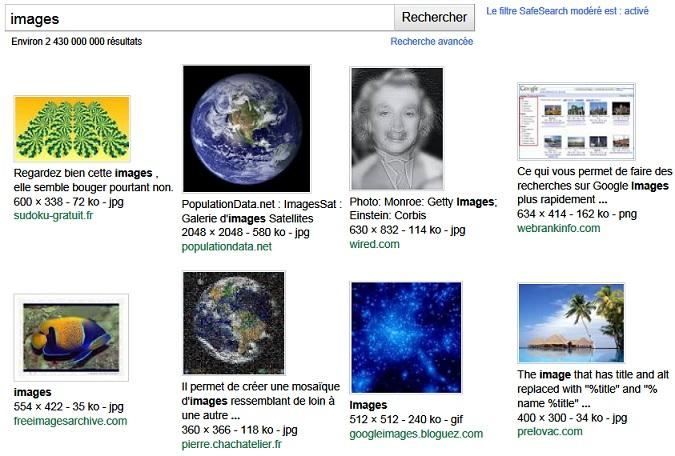 Google vous offre plus de 2 milliards d'images et de photos libres de droits