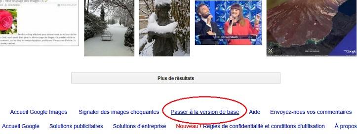 bas de page google en recherche d'images