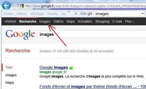 Google permet de rechercher des images et des photos selon plusieurs critères ou mots clés