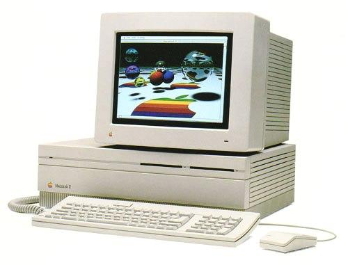 Le Macintosh II sorti en 1987