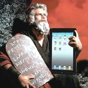 Moïse et la tablette ipad de la loi !