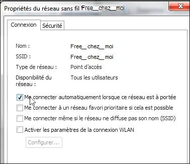 Me connecter automatiquemet (Windows 7)