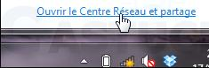 ouvrir centre de reseau et partage (windows 7)